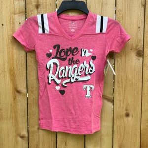 Other - Girls Certified Texas Rangers Pink Shirt